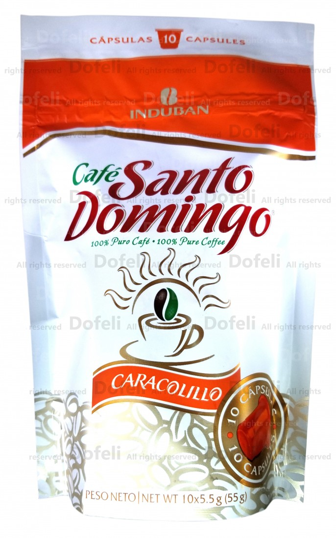 Santo Domingo Dominican Caracolillo Coffee Capsules